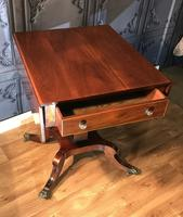 Regency Mahogany Sofa Table (5 of 9)