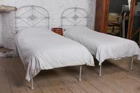 Lovely Pair of All Iron Single no End Beds - can be joined