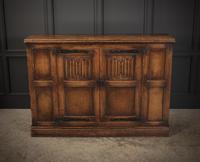 Solid Oak Linenfold Cabinet (6 of 9)