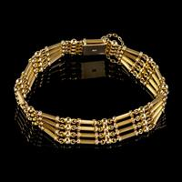 Antique Victorian 15ct Gold Gate Bracelet c.1900 (2 of 5)