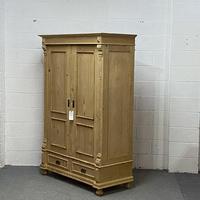 Antique Pine Wardrobe 'Dismantles' c.1900 (4 of 5)