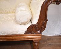 Regency Chaise Longue Sofa Walnut Lounge Day Bed (25 of 25)