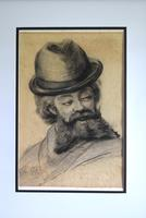 19th Century Charcoal Drawing Bearded Gent (2 of 10)