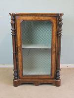 Antique Victorian Burr Walnut Display Cabinet (7 of 9)