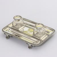 Quality Silver Inkstand with Twin Inkbottles by Elkington & Co. 1898 (4 of 12)