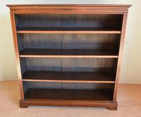 Mahogany Inlaid Open Bookcase (2 of 4)