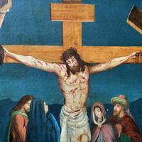 Superb 19th Century Old Master Biblical Christ Oil Portrait Painting - Gothic Oak Frame (5 of 17)