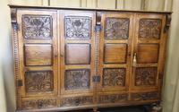 Superb Carved Oak Cupboard on Stand (9 of 34)