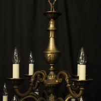 French Gilded Brass 12 Light Tiered Chandelier Oka04098 (6 of 10)