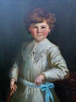 Gilbert Baldry (1876-1928) A Large Exceptional Edwardian Oil Portrait Painting (4 of 14)