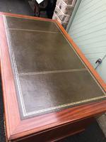 Antique Mahogany Pedestal Writing Desk (8 of 11)