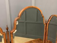 Burr Walnut Bow Fronted Dressing Table (2 of 19)