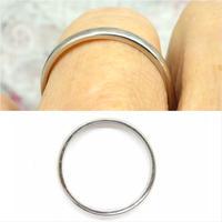 Vintage Art Deco Plain Platinum Wedding Band c1930's ~ Ladies narrow ring size O 1/2 - 7.25 (8 of 9)