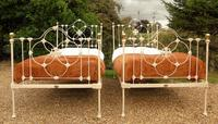 Pretty Pair of Victorian Large Single Beds Seventh Heaven (4 of 11)