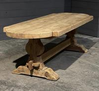 Large Rustic French Bleached Oak Farmhouse Dining Table (3 of 40)