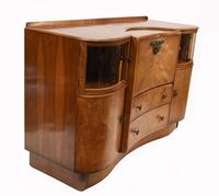 Art Deco Drinks Cabinet Walnut Vintage 1930s (10 of 16)