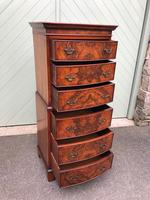 Antique Slim Burr Walnut Chest on Chest (7 of 8)