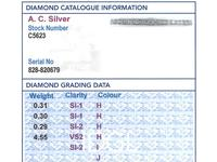 5.45ct Diamond & Platinum Bar Brooch - Antique c.1910 (8 of 9)