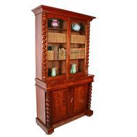 Fine Victorian Mahogany Cabinet Bookcase (2 of 8)