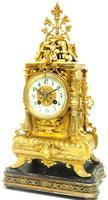 Superb Antique French Ormolu Mantel Candelabra Clock Set Embossed Decoration Finial 8 Day Striking (11 of 15)
