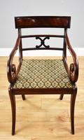 Set of 8 Antique Regency Style Mahogany Dining Chairs c.1900 (3 of 9)