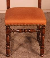Set of 12 Louis XIII Style Walnut Chairs (6 of 11)