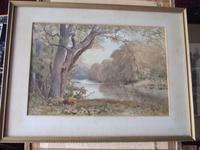 William Eyre Walker RWS: 19th century watercolour of a river landscape (2 of 2)