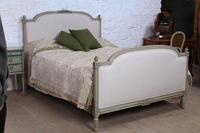 Lovely newly upholstered king size French bed (9 of 9)