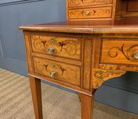 Inlaid Satinwood Carlton House Desk by Jas Shoolbred (25 of 25)