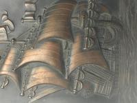 Antique Art Nouveau Marine Bronze Relief Wall Plaque Spanish Galleon Ship 1668 (14 of 21)