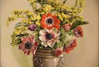 """Oil Painting by William Johnston """"A Floral Study"""" (3 of 5)"""