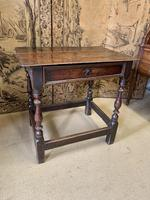 Signed 18th Century Oak Occasional Table (3 of 6)