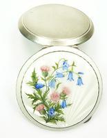 Antique Silver & Enamel Compact Mirror (4 of 7)