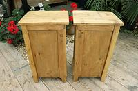 Quality Pair of Old Stripped Pine Bedside Cabinets (9 of 9)