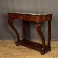 French Louis Philippe Period Mahogany Console Table (9 of 12)