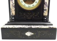 Very Fine French Slate & Marble Mantel Clock 8 Day Striking Mantle Clock (9 of 10)