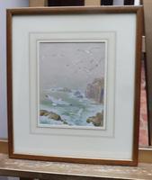 Watercolour Seagull seascape List Artist Noel Hubert Hopking (2 of 10)