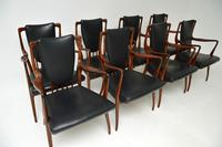 Rosewood & Leather Dining Table & Chairs by AJ Milne for Heals (8 of 22)