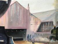 Oil Painting Railway Train Engine Princess Margaret 4056 Signed Ken Allsebrook (15 of 30)