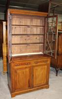1910s Edwardian Quality Mahogany Chiffoniere Bookcase with Inlay (4 of 5)