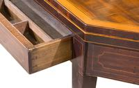 Regency Mahogany Card Table on Square Tapered Legs (8 of 10)