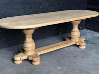 Bleached Oak Farmhouse Dining Table (10 of 12)
