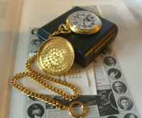 Vintage Pocket Watch 1970s Railroad 12ct Gold Plated Swiss & West Germany Nos (11 of 12)