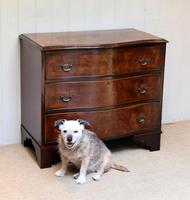 Walnut Serpentine Front Chest of Drawers (10 of 10)