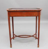 Edwardian Inlaid Satinwood Bijouterie Table (6 of 10)