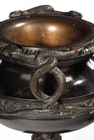 Handsome Pair of 19th Century Bronze Neoclassic Urns (2 of 7)