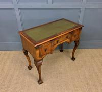 Queen Anne Style Burr Walnut Writing Table (4 of 12)