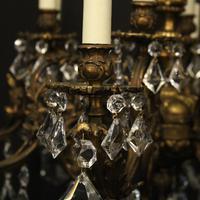 Italian Gilded 12 Light Antique Chandelier (4 of 10)