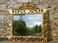 Large Antique Florentine Mirror with Crest (6 of 10)