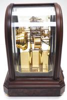 Wow! Franz Hermle & Sohne Musical Bell Chiming Mahogany & Glass Mantel Clock (12 of 13)